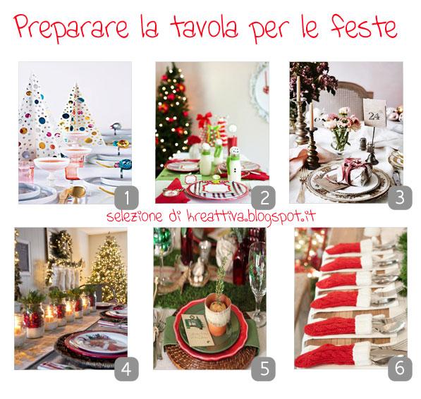 idee tavola delle feste di natale