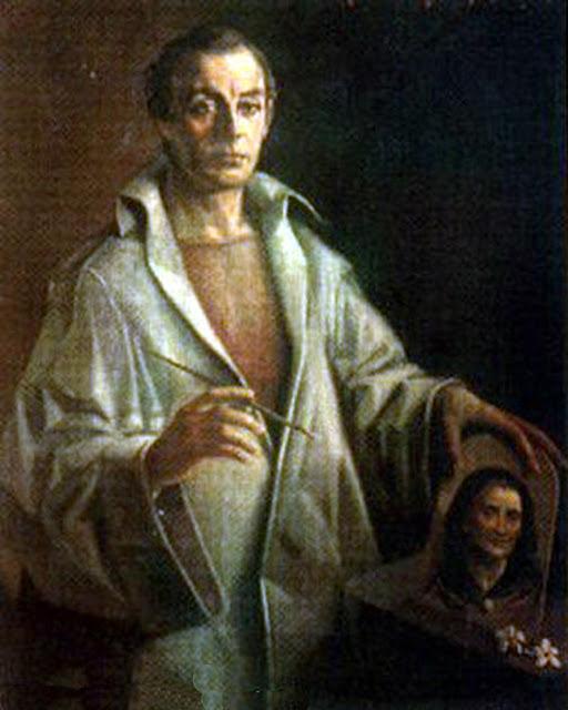 Enrique Monis Mora, Self Portrait, Portraits of Painters, Monis Mora, Fine arts, Portraits of painters blog, Paintings of Enrique Monis Mora, Painter  Enrique Monis Mora