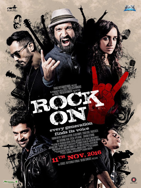 Rock On 2 (2016) 480p Hindi DVDScr Full Movie Download extramovies.in Rock On!! 2 2016