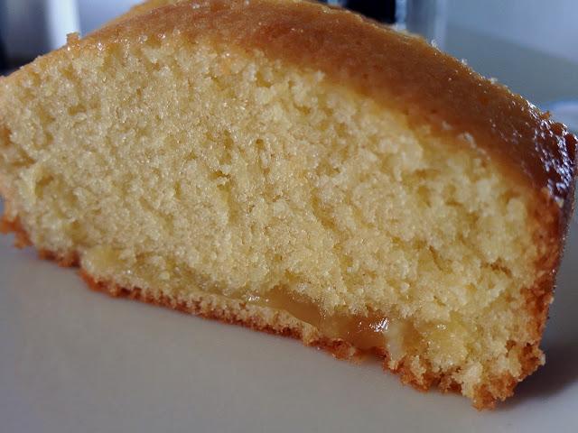 Quatre-quart, cake, gâteau, citron, lemon curd