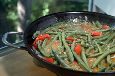 Green Bean Beef Skillet {Vegan} 1