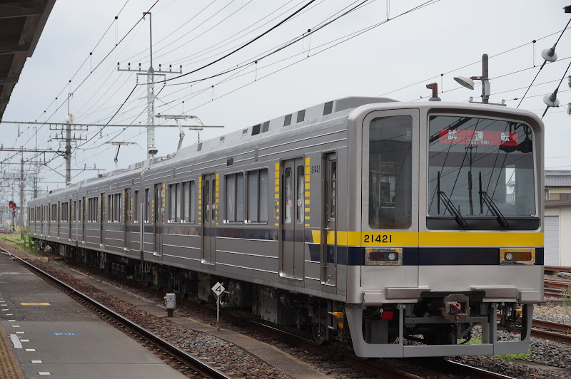 乗務員訓練で新栃木停車中の東武鉄道20400系