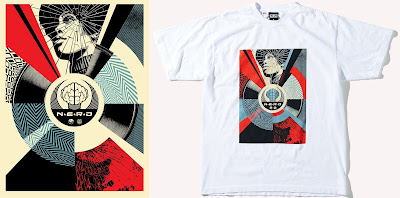 ComplexCon 2017 Exclusive N*E*R*D x Obey Giant Screen Print & T-Shirt by Shepard Fairey x Pharrell Williams