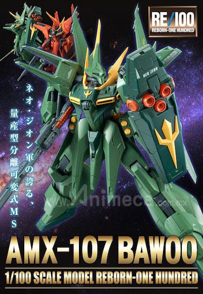 Bawoo Mass-Production AMX-107 RE/100 1/100 Model Kit Mobile Suit Gundam ZZ
