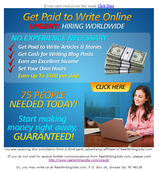 get paid for writing online