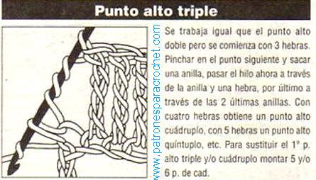 como tejer vareta triple