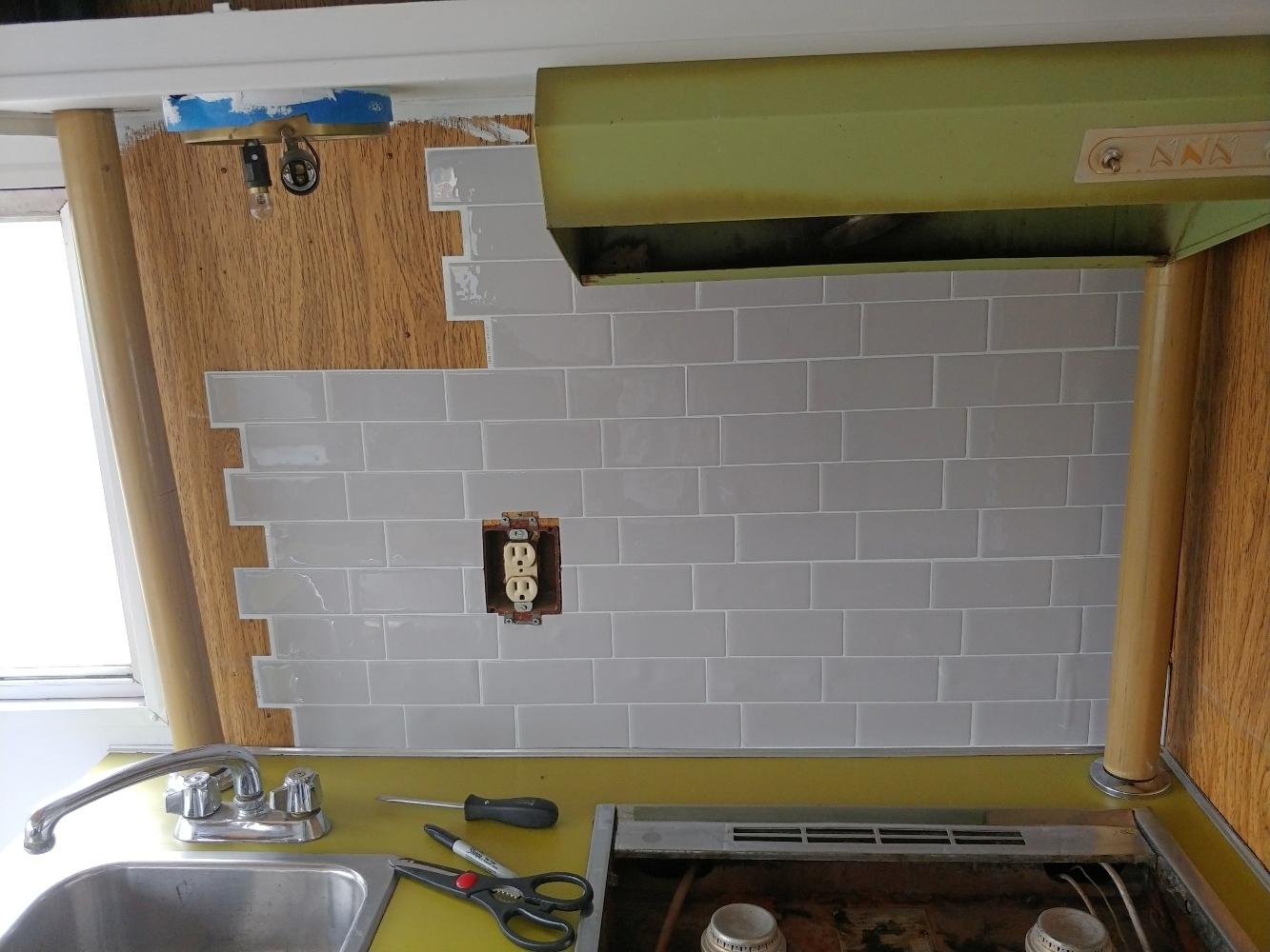 self-adhesive tiles rv application