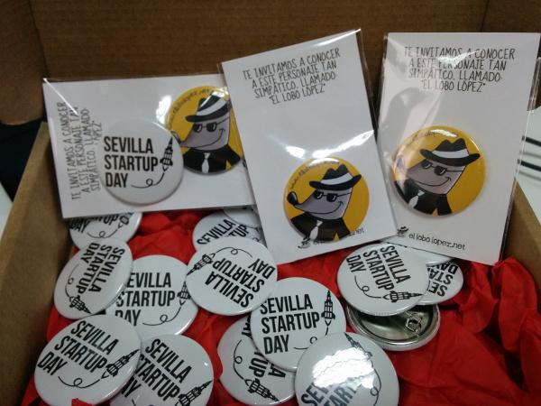 Chapas El Lobo López para la Sevilla Startup Day