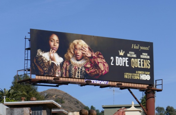2 Dope Queens HBO billboard