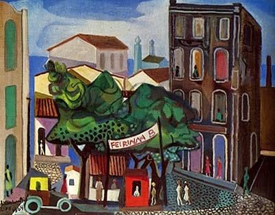Paisagem de Recife - Di Cavalcante e suas principais pinturas ~ Pintando a realidade brasileira