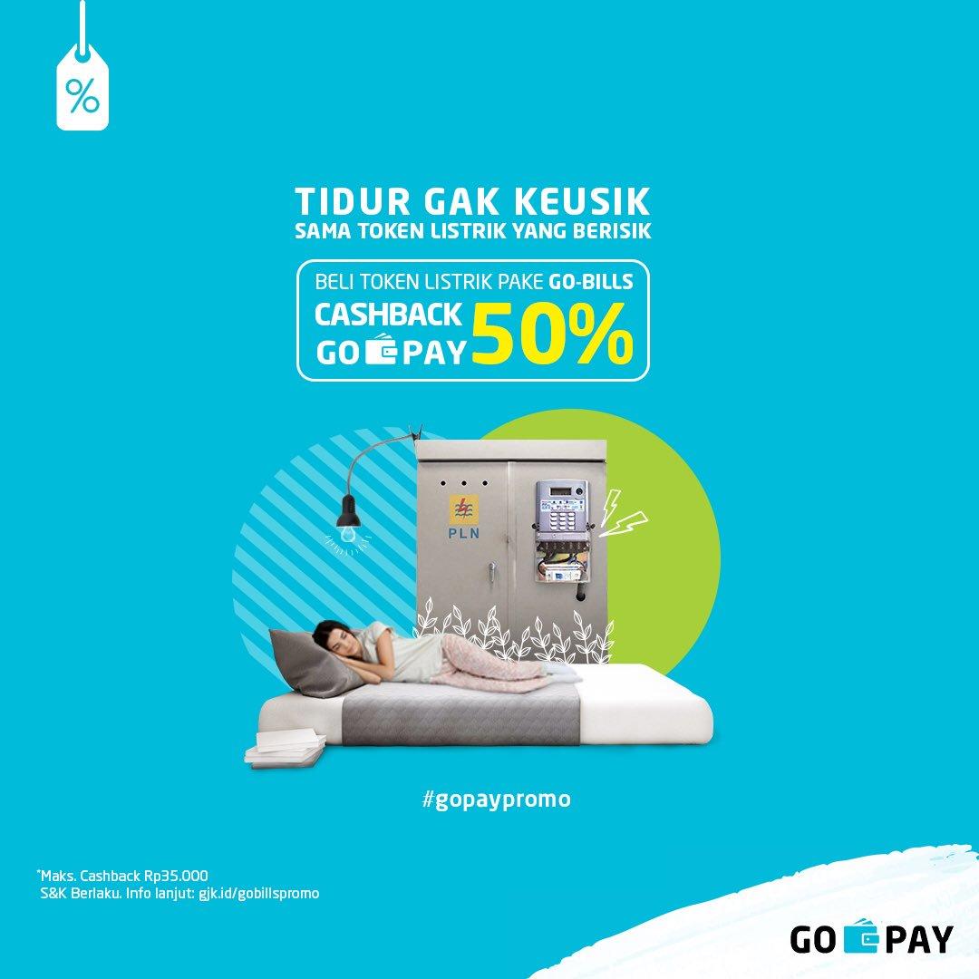 GOJEK - Promo Cashback 50% Token PLN diPerpanjang (s.d 31 Des 2018)