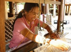 Junhom Bantan cotton weaver in Northern Thailand