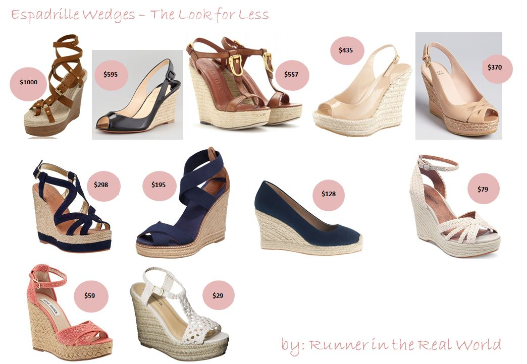 ab897593302 Runner in the Real World: The Look for Less: Espadrille Wedges