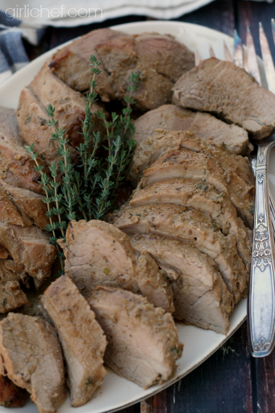 Pork Tenderloins with Dijon Mustard Sauce