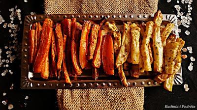 Frytki z marchewki i selera