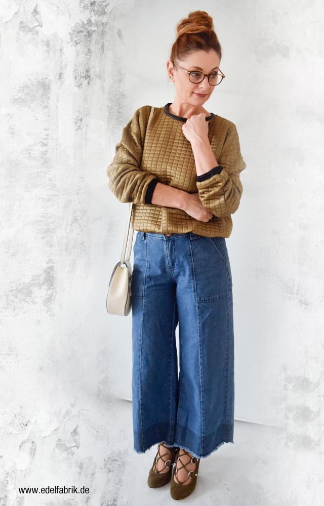 Denim Culotte von C&A richtig kombinieren mit Sandaletten