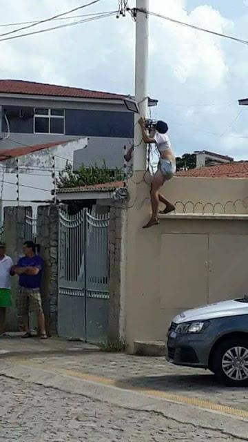 Ladrão morre eletrocutado em cerca elétrica