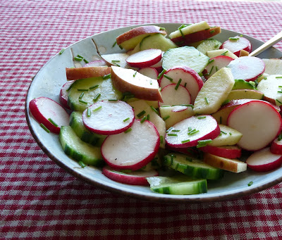 German Radish, Cucumber, & Apple Salad
