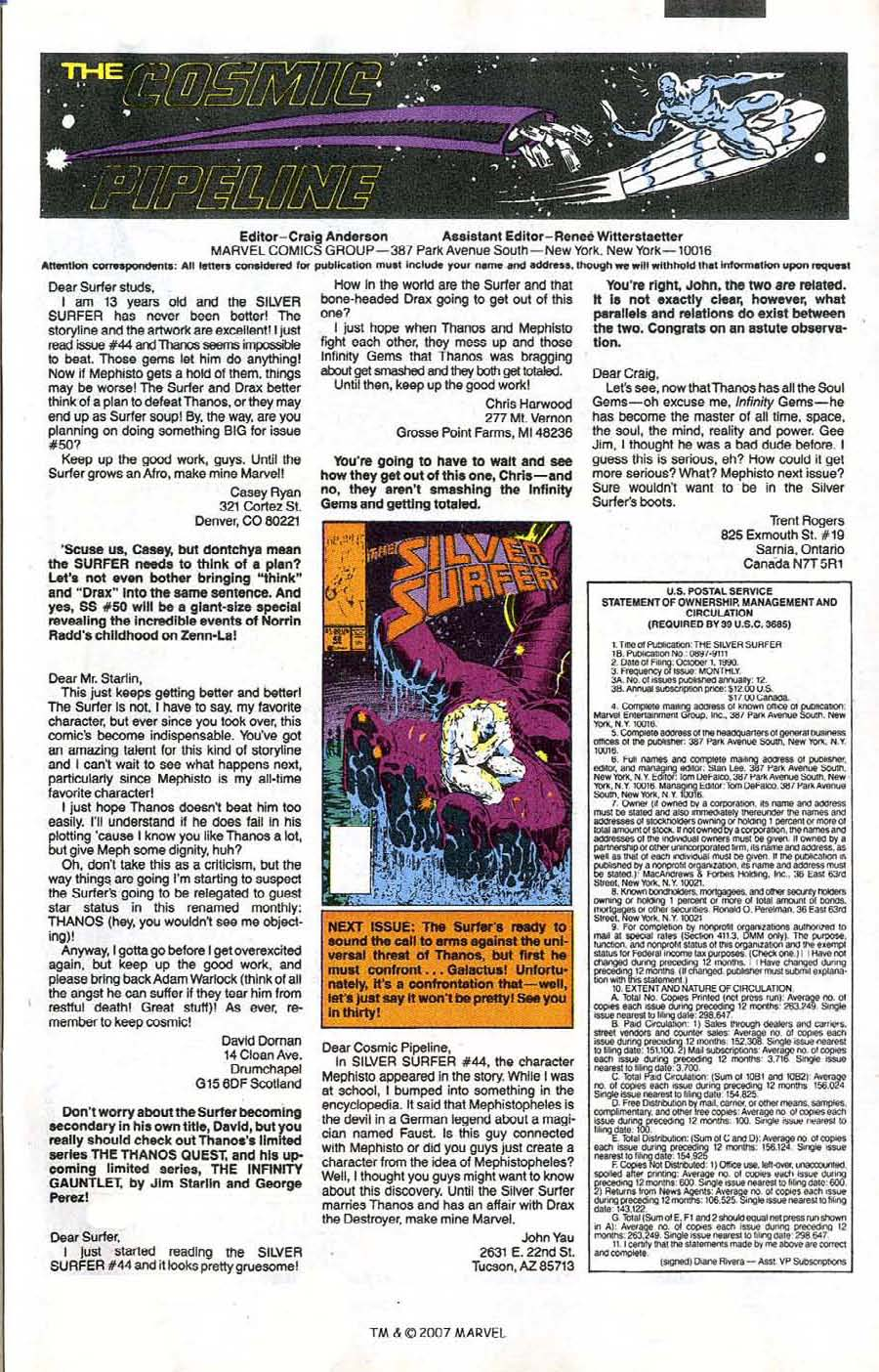 Read online Silver Surfer (1987) comic -  Issue #47 - 33