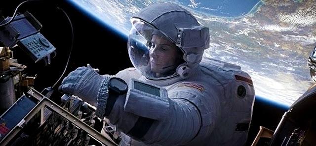 Gravity - Sandra Bullock in spatiu
