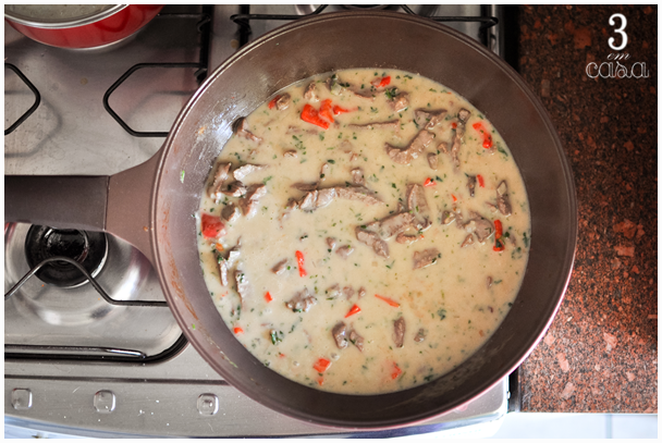 low carb carne leite coco