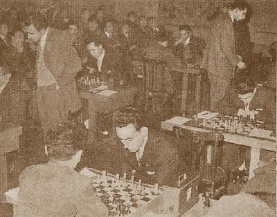 Sala de juego del XXV Campeonato Individual de Catalunya 1957