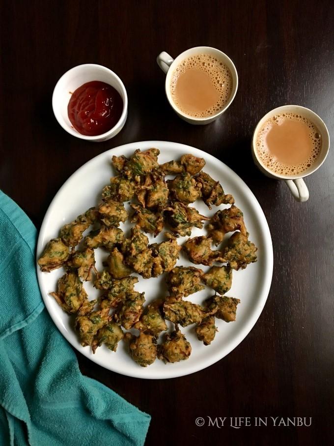 Arugula Pakora | Garden Rocket Fritters