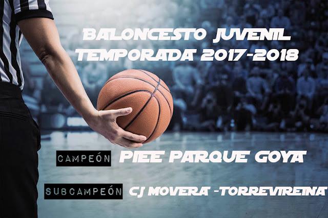 BALONCESTO JUVENIL: CAMPEONES TEMP 2017-2018