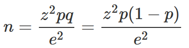 slovin s formula How do you calculate a sample size using cochran's formula, where the larger beneficiary population is 180,000 people kindly take me step by step, including.