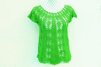 Blusa con piñas Majovel crochet 8