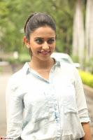 Rakul Preet Singh in Jeans and White Shirt At Jaya Janaki Nayaka le Logo Launch ~  Exclusive 010.JPG