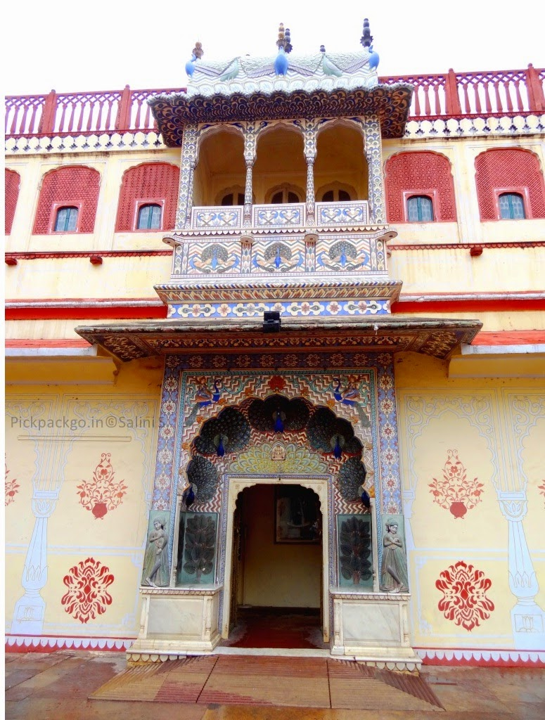 Riddhi- siddhi Pole  Gate denoting autumn season  Jaipur city Palace - Rajasthan, India - Pick, Pack, Go