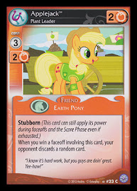 My Little Pony Applejack, Plant Leader Premiere CCG Card