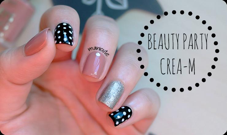 BeautyParty Crea-m polka dots manicure