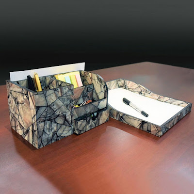 Buy Nile Corp Wholesale Wooden Marble Pattern Office Supplies Storage Desk Organizer