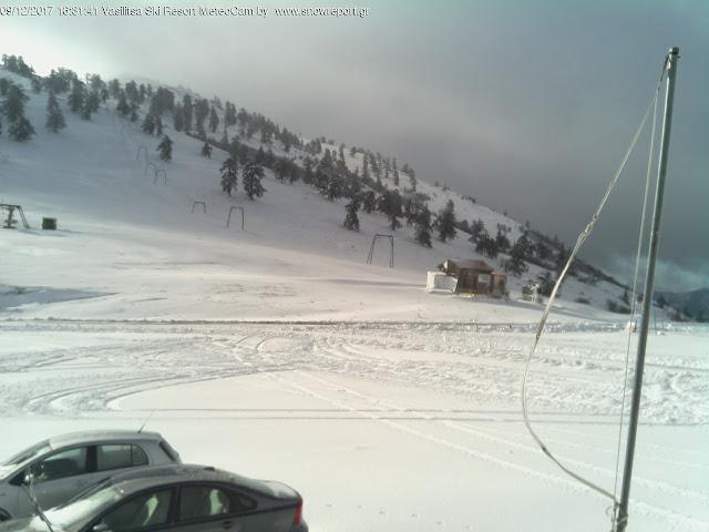 Γιάννενα: Στο χιονοδρομικό κέντρο της Βασιλίτσας,το χιόνι ξεπέρασε τα 20 εκατοστά