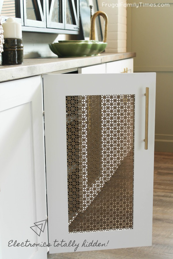 DIY media cabinet metal door