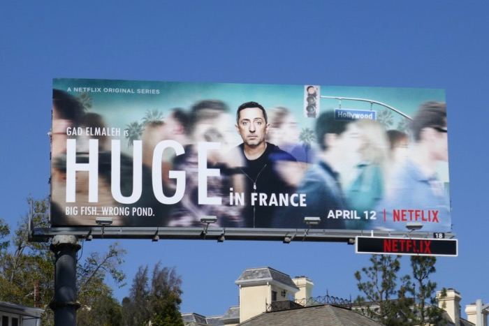 Gad Elmaleh Huge in France series billboard