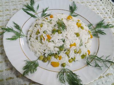 dereotlu pilav salatası