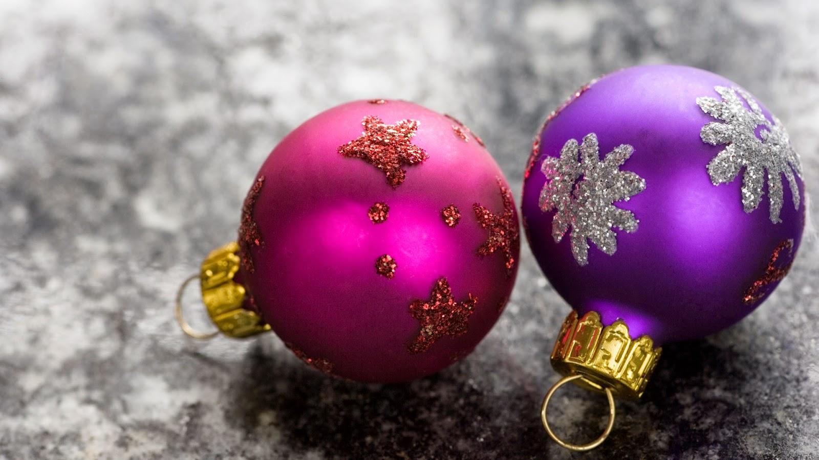 Imagenes y wallpapers fondo de pantalla navidad bolas moradas - Fotos de bolas de navidad ...
