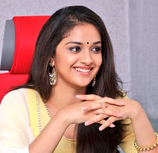 Keerthy Suresh in Yellow Dress with Cute and Awesome Lovely Smile at Press Meet 1