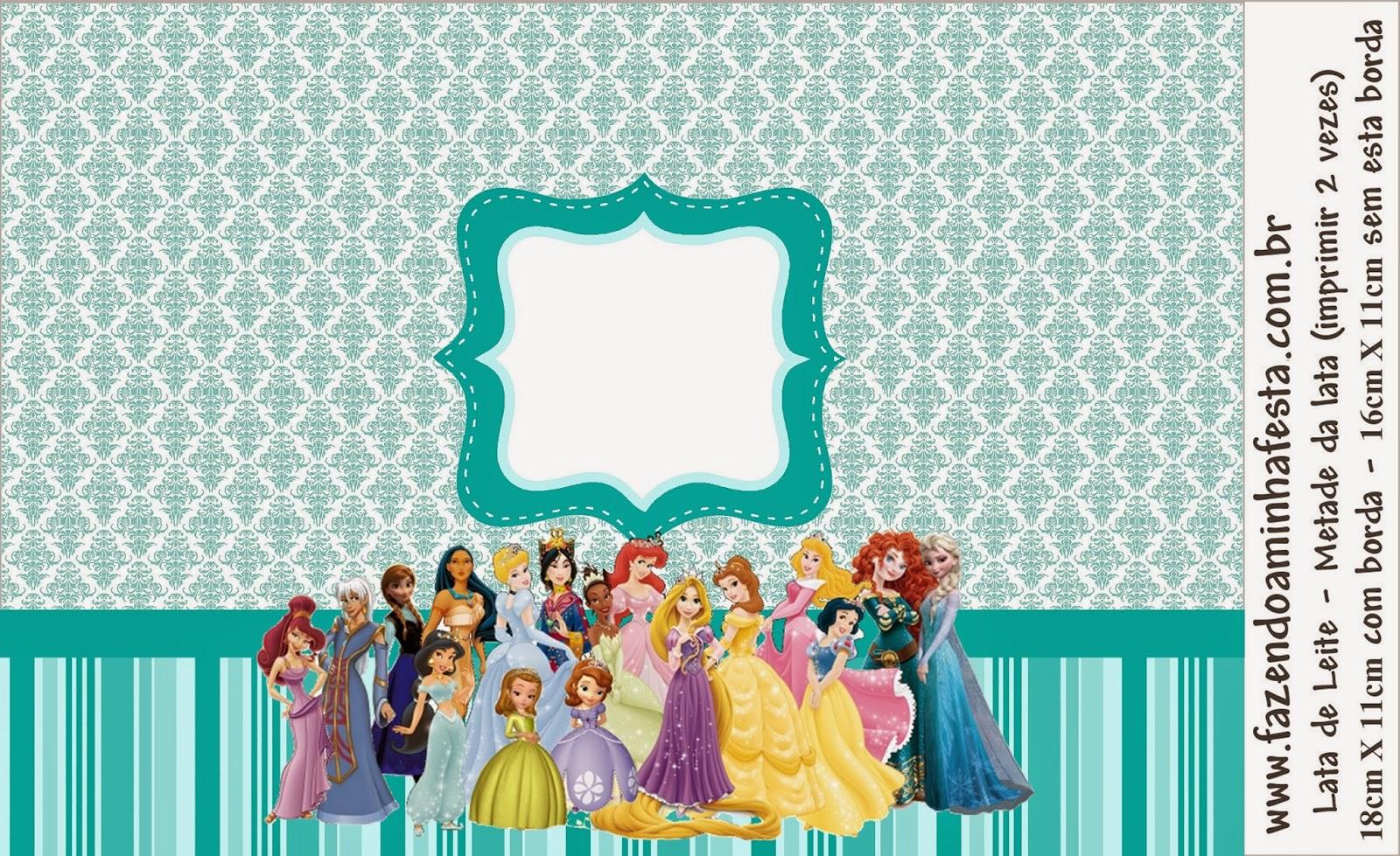 Etiquetas de Todas las Princesa Disney para imprimir gratis.