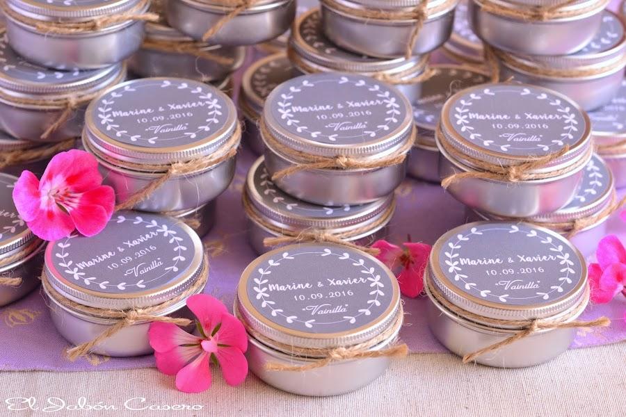 Detalles de boda velas aromaticas naturales
