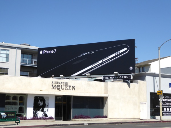 Black iPhone 7 billboard