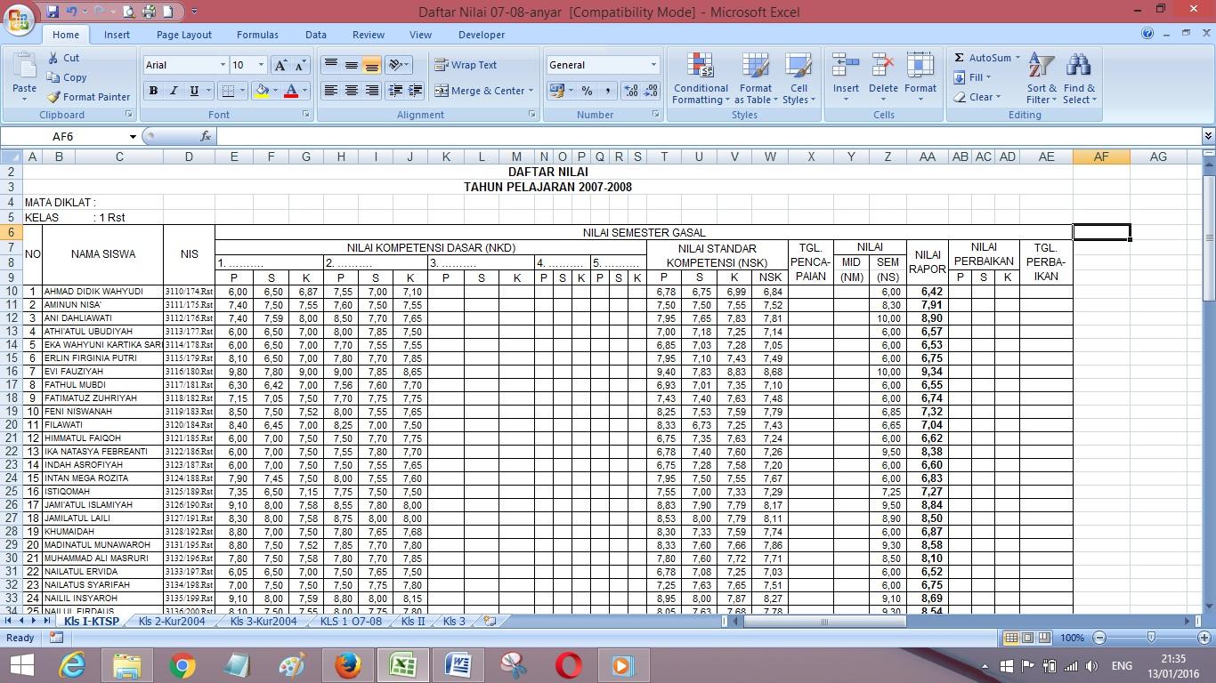 Jumlah Sheet Pada Ms Excel