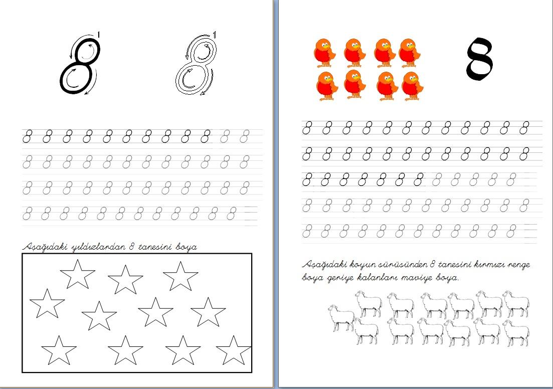 Taze 8 Rakamı Boyama Sayfası Yazdırılabilir Boyama Sayfaları