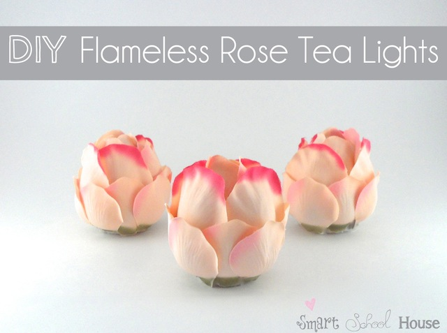 Flameless Rose Tea Lights made with plastic spoons