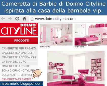 Risparmiello: Cameretta di Barbie prezzi Doimo Cityline e preventivo