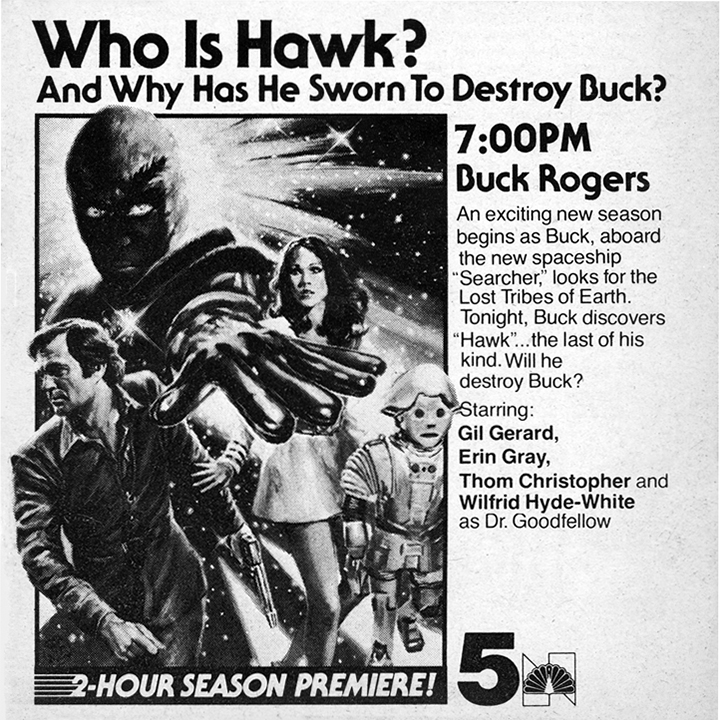 TV Guide ad for Buck Rogers in the 25th Century Buck Rogers in - lost person poster
