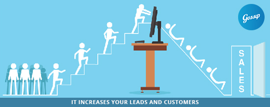 It increases your leads and customers